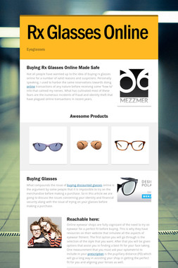 Rx Glasses Online