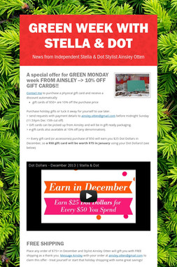 GREEN WEEK with Stella & Dot
