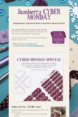 Jamberry CYBER MONDAY