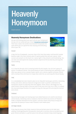 Heavenly Honeymoon