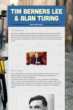 Tim Berners Lee & Alan Turing