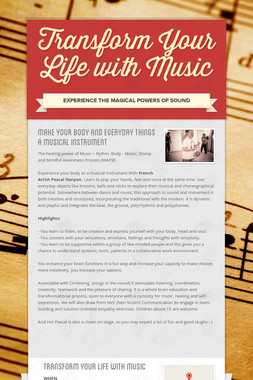 Transform Your Life with Music