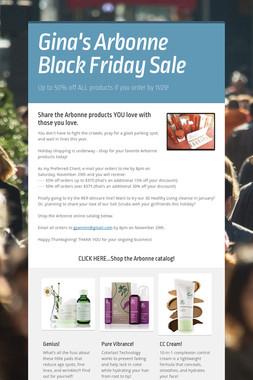 Gina's Arbonne Black Friday Sale