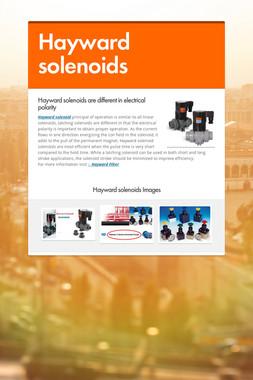 Hayward solenoids