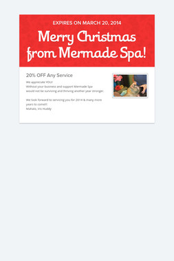 Merry Christmas from Mermade Spa!