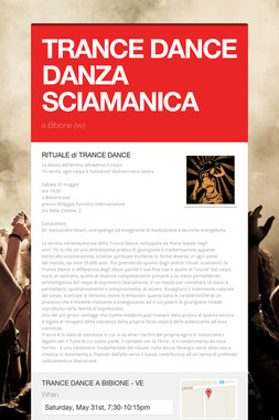 TRANCE DANCE DANZA SCIAMANICA
