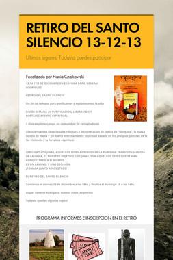 RETIRO DEL SANTO SILENCIO 13-12-13