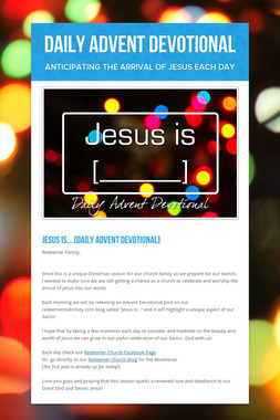 Daily Advent Devotional