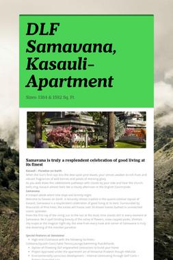 DLF Samavana, Kasauli-Apartment