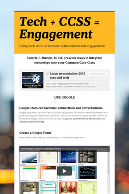 Tech + CCSS = Engagement