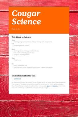Cougar Science