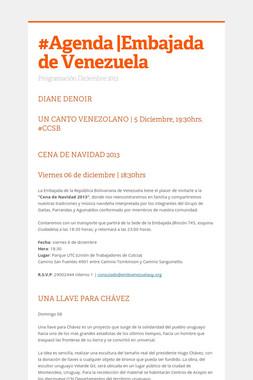 #Agenda |Embajada de Venezuela