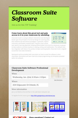 Classroom Suite Software