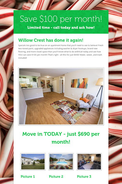 Save $100 per month!