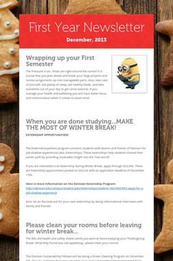 First Year Newsletter
