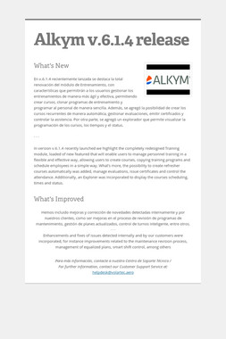 Alkym v.6.1.4 release