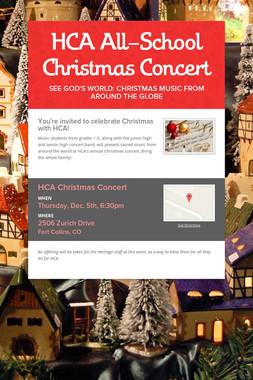 HCA All-School Christmas Concert