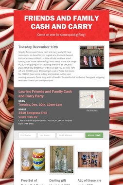 Friends and Family Cash and Carry