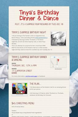 Tinya's Birthday Dinner & Dance