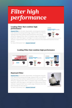 Filter  high performance