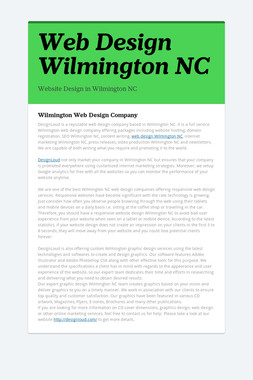Web Design Wilmington NC