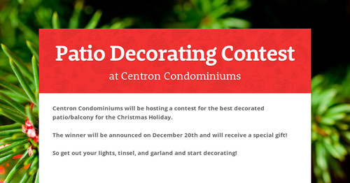 Patio Decorating Contest Smore Newsletters
