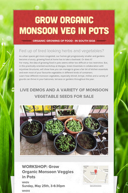 Grow Organic Monsoon Veg in Pots