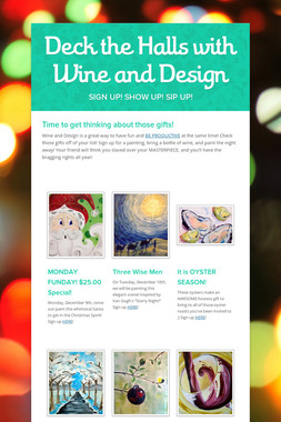 Deck the Halls with Wine and Design