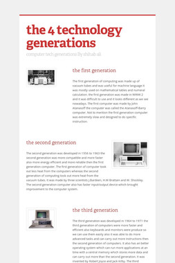 the 4 technology generations
