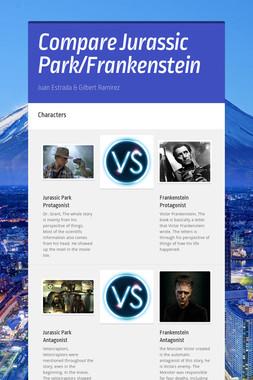 Compare Jurassic Park/Frankenstein