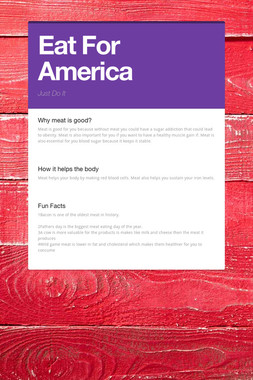 Eat For America