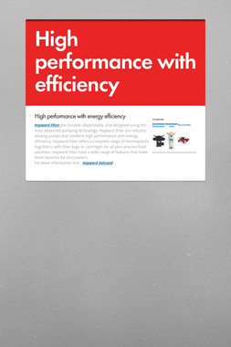 High performance with efficiency