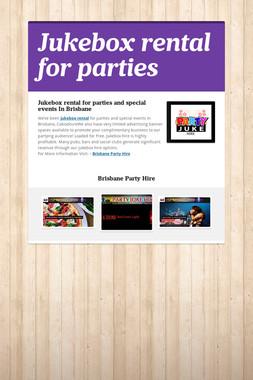 Jukebox rental for parties