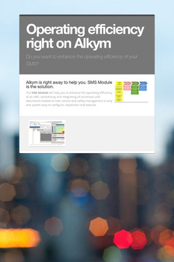 Operating efficiency right on Alkym