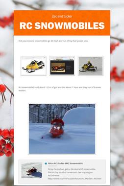 Rc snowmobiles