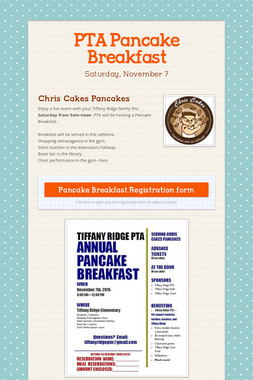 PTA Pancake Breakfast
