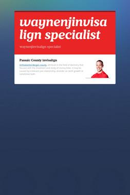 waynenjinvisalign specialist