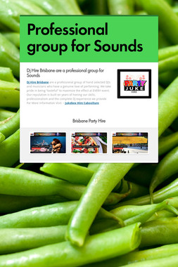 Professional group for Sounds