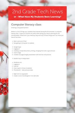 2nd Grade Tech News