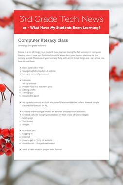 3rd Grade Tech News