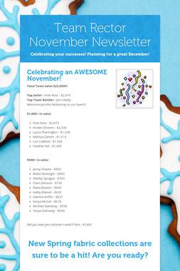 Team Rector November Newsletter