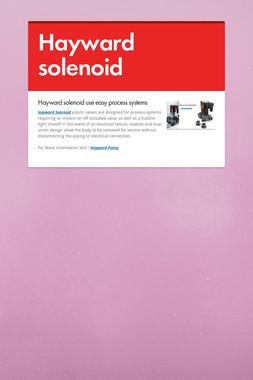 Hayward solenoid