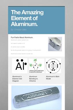 The Amazing Element of Aluminum.