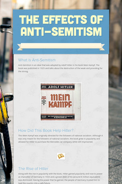 The Effects of Anti-Semitism