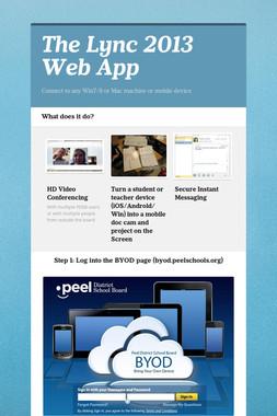 The Lync 2013 Web App