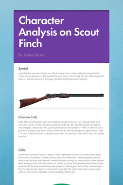 Character Analysis on Scout Finch