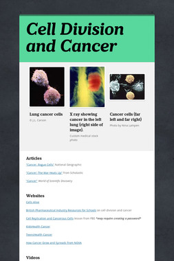 Cell Division and Cancer