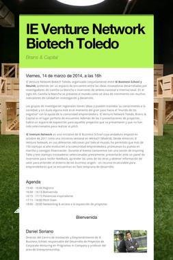 IE Venture Network Biotech Toledo