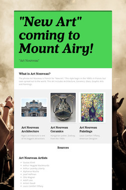 """""""New Art"""" coming to Mount Airy!"""