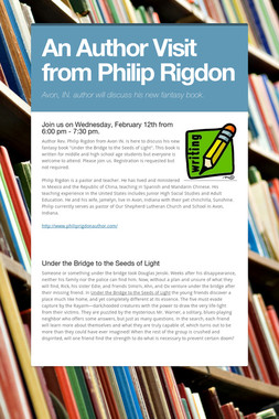 An Author Visit from Philip Rigdon